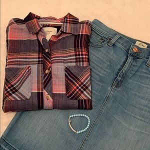 Abercrombie & Fitch check plaid size XS